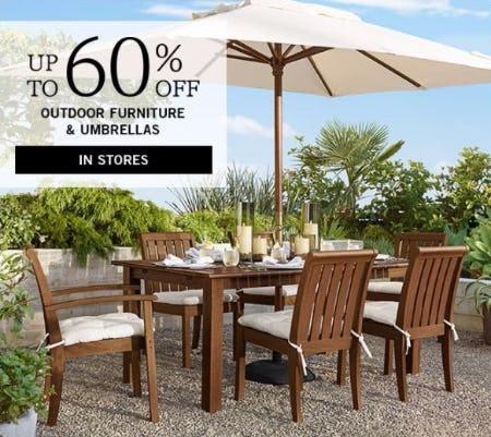 Up to 60% Off Outdoor Furniture & Umbrellas