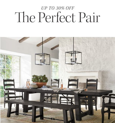 Up to 30% Off Tables & Chairs from Pottery Barn