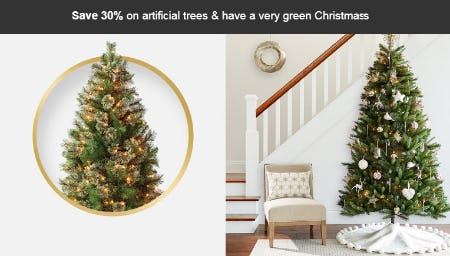 Save 30% Off on Artificial Trees from Target