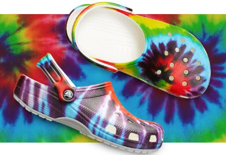 Our Classic Tie-Dye Graphic Clog