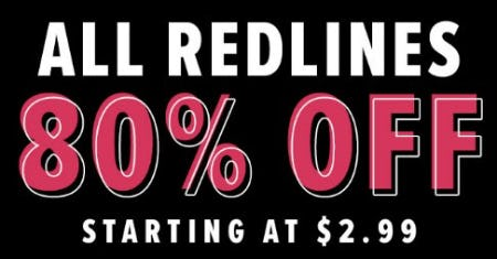 All Redlines 80% Off from New York & Company