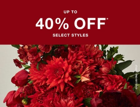 Up to 40% Off Select Styles from Banana Republic Factory Store