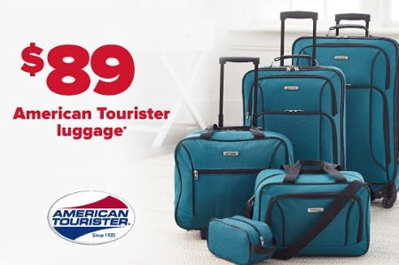 $89 American Tourister luggage from Belk