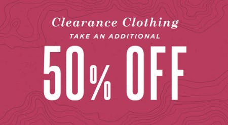 Additional 50% Off Clearance Clothing from Earthbound Trading Company