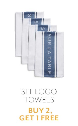 B2G1 Free SLT Logo Towels from Sur La Table