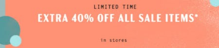 Extra 40% Off All Sale items from Anthropologie