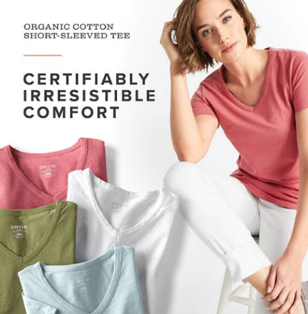 Our Organic Cotton Short-Sleeved Tee from Orvis