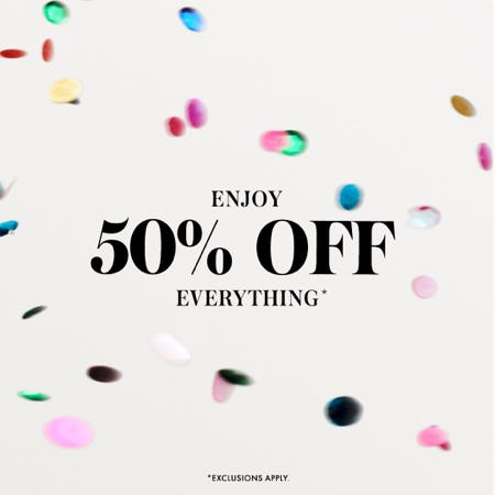 Big Deal Friday! 50% off everything is here.  from kate spade new york