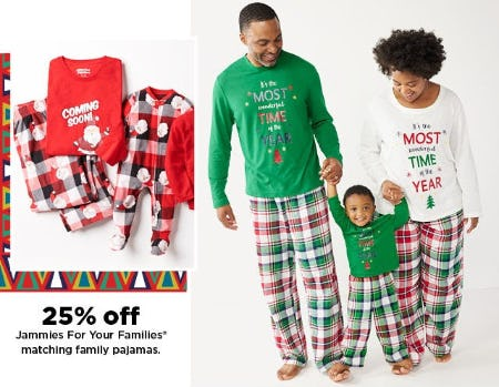 25% Off Jammies For Your Families