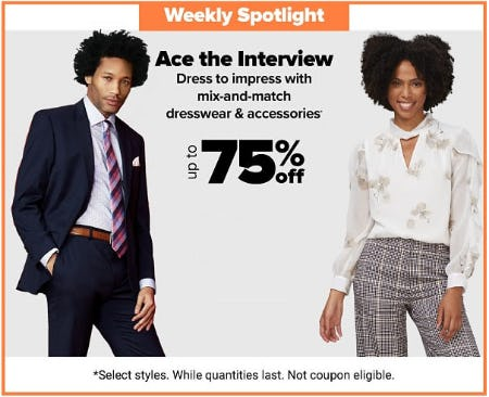 Up to 75% Off Dresswear & Accessories from Belk