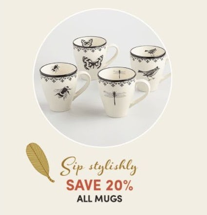 20% Off All Mugs from Cost Plus World Market