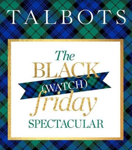 Black Friday Spectacular from Talbots