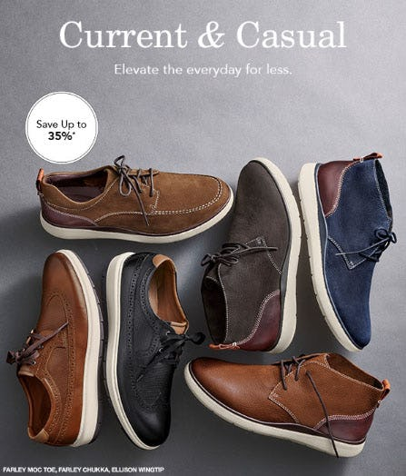 Up to 35% Off Casual Favorites from JOHNSTON & MURPHY