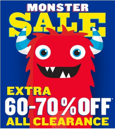 Monster Sale: Extra 60-70% Off All Clearance from Children's Place