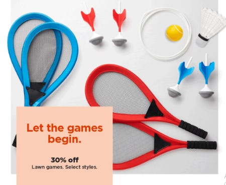 30% Off Lawn Games