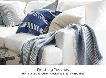 Up to 50% Off Pillows & Throws