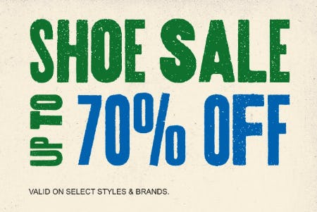 Shoe Sale: Up to 70% Off