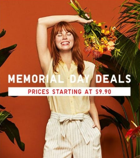 Memorial Day Deals Prices Starting at $9.90 from Uniqlo