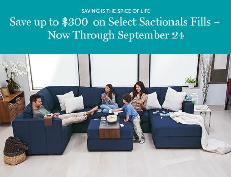 Save up to $300 on Select Sactionals Fills