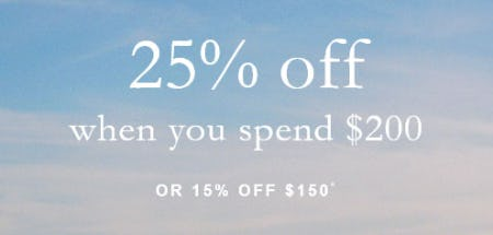 25% Off When You Spend $200 from Abercrombie & Fitch