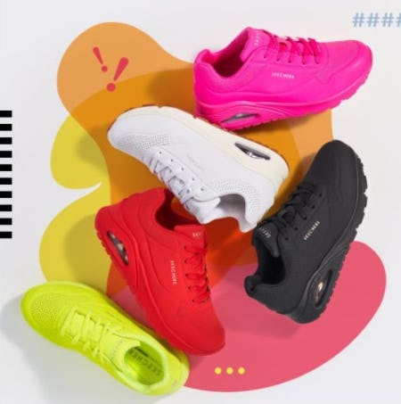 Skechers Uno in Shades You Can't Resist from Rack Room Shoes