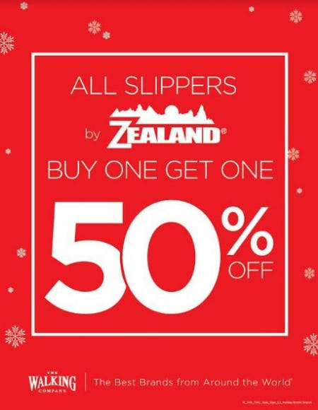 Zealand Slippers BOGO 50% Off from THE WALKING COMPANY