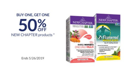 BOGO 50% Off New Chapter Products