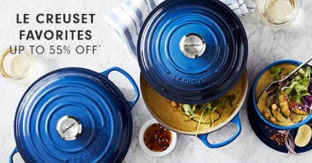 Le Creuset Favorites up to 55% Off