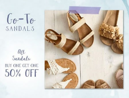 BOGO 50% Off All Sandals from Altar'd State