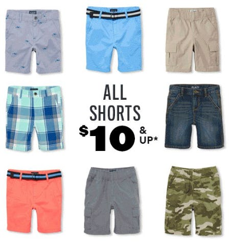 All Shorts $10 & Up from The Children's Place