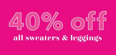 40% Off All Sweaters & Leggings from Aerie