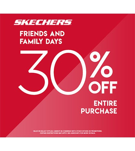 SKECHERS FRIENDS & FAMILY DAYS from Skechers