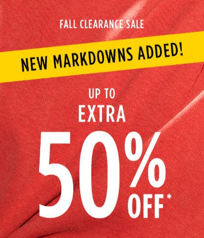 Up to Extra 50% Off Fall Clearance Sale from Tillys