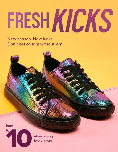 Sneakers From $10 When You Buy 2 or More from Rainbow