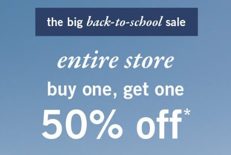 Entire Store Buy One, Get One 50% Off from Abercrombie Kids