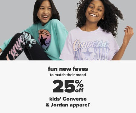 25% Off Kids' Converse & Jordan Apparel from Belk