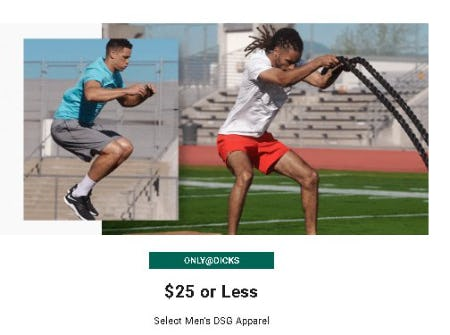 $25 or Less Select Men's DSG Apparel from Dick's Sporting Goods