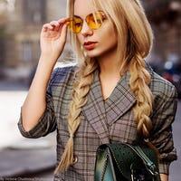 Wear the Trend: Grey Plaid Blazer