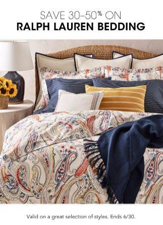 30-50% Off Ralph Lauren Bedding from Bloomingdale's