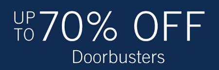 Up to 70% Off Doorbusters