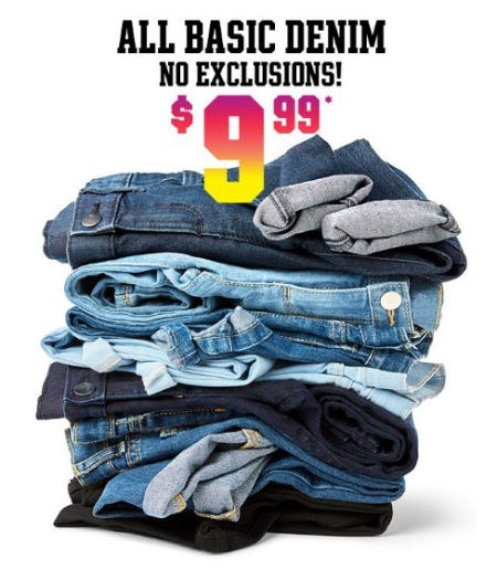 All Basic Denim $9.99