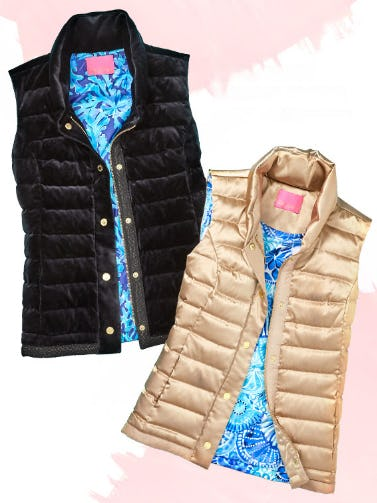 Luxe Puffer Vests from Lilly Pulitzer