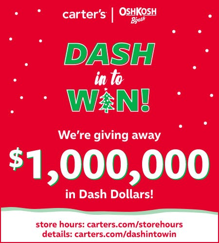 Dash In to Win Sweepstakes from Carter's
