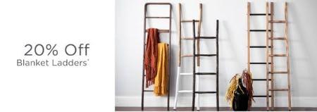 20% Off Blanket Ladders from Kirkland's
