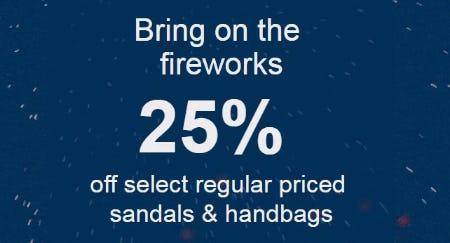 25% Off Select Regular Priced Sandals & Handbags from ALDO