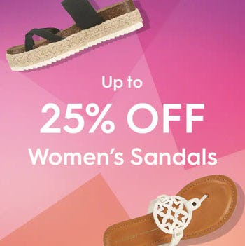 Up to 25% Off Women's Sandals from Famous Footwear