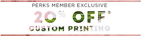 20% Off Custom Printing from PAPYRUS