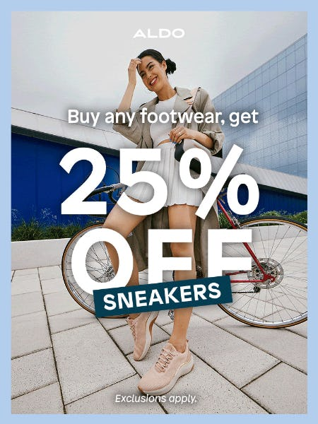 25% Off Sneakers from ALDO