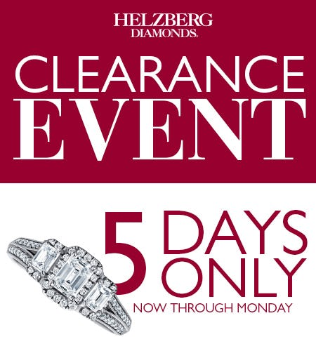 Save Up to $1000 at Helzberg's Clearance Event from Helzberg Diamonds