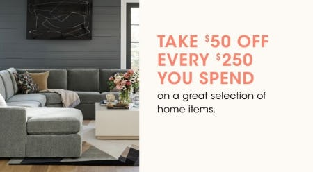 Take $50 Off Every $250 You Spend